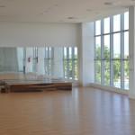 Espaço para aulas, localizado no andar superior