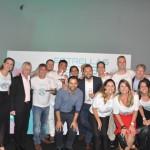 Executivos da CVC Corp, maior vencedora da noite, e executivos da Rede Iberostar
