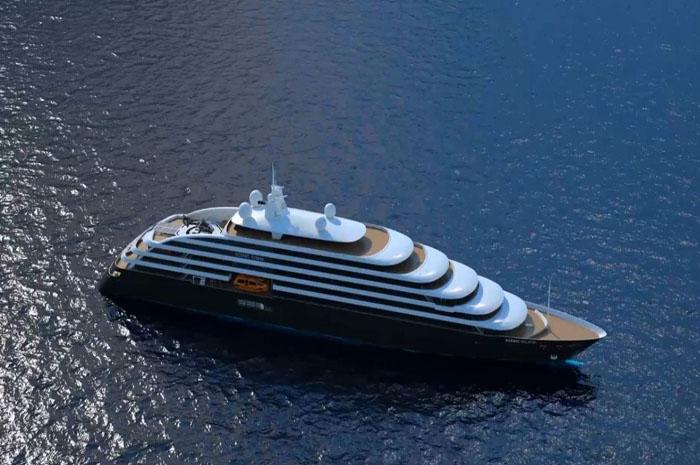 Começa agora a fase de acabamento do primeiro iate de descobertas da Scenic Cruises (Divulgação)
