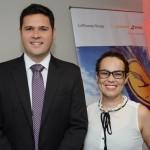 Fernando Aquino e Fernanda Maldonado, do Turismo da Suiça