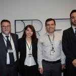 Fernando Lafalce, Mariana Campos, da Aerolíneas Argentinas, José Perez, da GRU, e Michel Rocha, da Aerolíneas Argentinas
