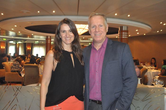 Glaucia Mayr e André Mercanti, gerente e diretor da Regent no Brasil