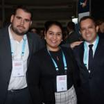 João Cazeiro, da GJP, Taise Melo e Francisco Silva, do Hotel Dallonder