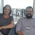 Juliana Arias, da Qualitours, e Rodrigo Macedo, da MG Travel