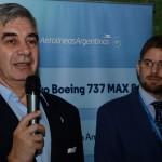 Mario Del Acqua, presidente da Aerolíneas Argentinas, e Gonzalo Romero, diretor da Aerolíneas Argentinas para o Brasil