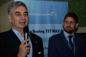 Mario Del Acqua, presidente da Aerolíneas Argentinas, e Gonzalo Romero, diretor Brasil da Aerolíneas Argentinas