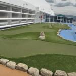 Navio tem até um mini campo de golfe