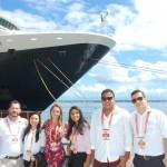 Pablo Zabala com Aryana Lopes, Patryck Vieira, Ana Bozzetti, Lucas Figueiredo e Julia Menezes, equipe Discover