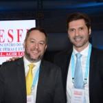 Paulo Ventura, do Expo Center Norte, e Marco Masso, da Informa Exhibitions