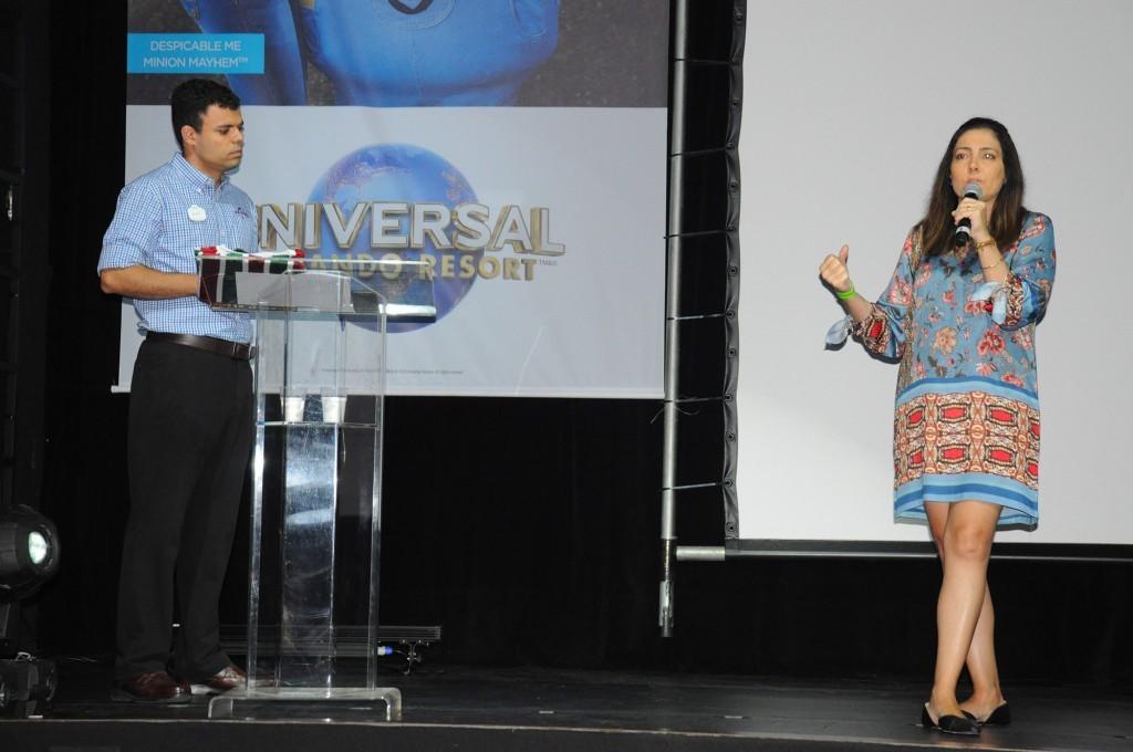 Renato Gonçalves, executivo, e Gabriella Cavalheiro, diretora de Desenvolviento de Negócios da Universal para América Latina