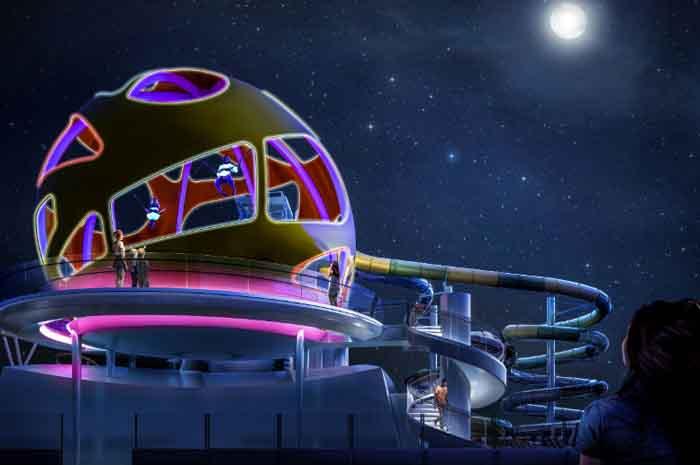 Projeto da nova atração do navio Independece of the Seas que irá zarpar em abril desde ano