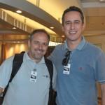 Tody Navarro, da R11, e Umberto Nocelli, da Flytour Viagens