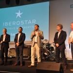 Winfried August, Arnaud Le Lanchon, Romón Girón, Jesús Bosque e Orlando Giglio, diretores da rede Iberostar no Brasil
