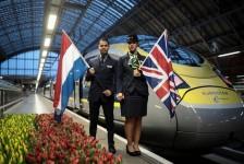 Eurostar faz viagem inaugural de nova rota que liga Londres a Amsterdã