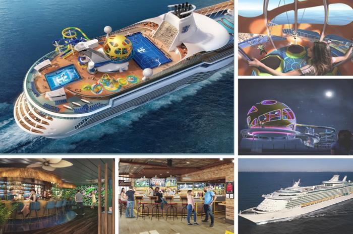 layouts dos novos ambientes e do deck superior do revitalizado Mariner of the Seas
