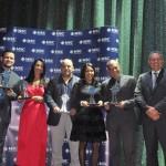 AMB, Atlantis, BR Afora, Luana Viagens e Nighele Turismo venceram na categoria Top Serviços Pré-pagos e receberam o prêmio das mão de Ciro Lima, da MSC
