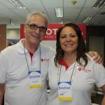 Abel Ferreira e Veronica Dias, da Flot