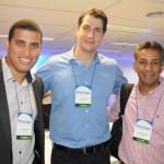 Alex Gonçalves, Gustavo Souza e Evandro Andrade, da Localiza Hertz