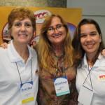Ana Alves, da Dreams Tour, com Aline Freitas e Kalyne Luz, da RCA