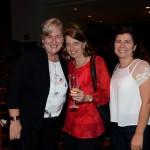 Annette Taeuber, Christina Binnie e Magda Moraes, da Lufthansa Swiss