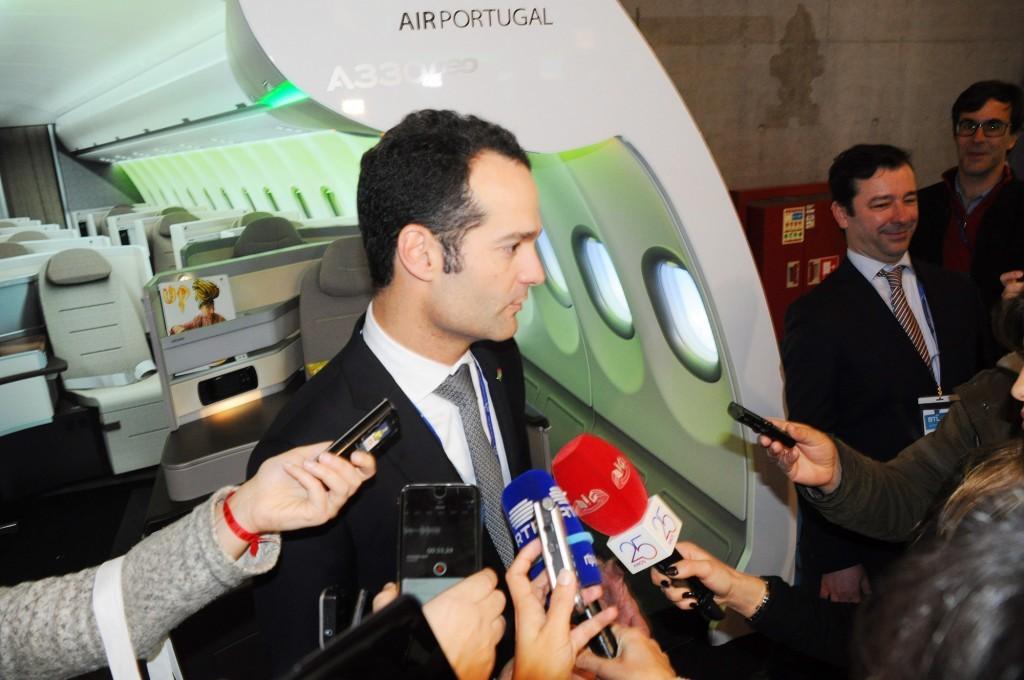 Antonoaldo Neves, presidente da TAP, em entrevista coletiva durante a BTL