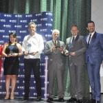 Aquarius, Quero Navegar, Jund Turismo, Orlatur e Supervia Viagens foram os vencedores da categoria TOP MSC Yatch Club e receberam o prêmio de Eduardo Simões, da MSC