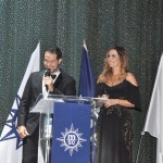 Bruno Cordaro, da MSC, e Flávia Cavalcanti, foram os mestres de cerimônia