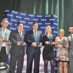 Clube Turismo, Abreutur, Kerigma, ACC Tours e CIA Tour foram as premiadas na categoria Top Seguro e receberam o prêmio de David Coelho, da MSC
