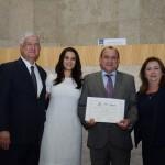David Barioni, da SPTURIS, Adriana Ramalho, Toni Sando, do SPCVB, e Silva Rubino