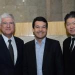 David Barioni, da SPTURIS, Fabricio Cobra, da Secretario de Turismo de São Paulo, e Bruno Omori, da ABIH-SP