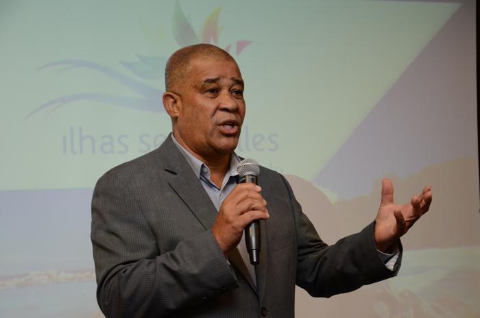 David Germain, diretor do Turismo de Seychelles, durante apresentação sobre o destino
