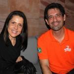 Diana Prudencio, da Portfolio Travel, e Américo Filho, da Flytour Viagens