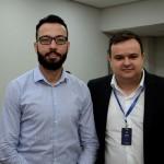 Diego Santos, da Flytour Viagens MMT, e Heitor Soares, da Europlus