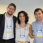 Gonzalo Romero, da Aerolineas, Natalia Pisoni, da Inprotur, e Leopoldo Lucas, do Iguazu Turismo