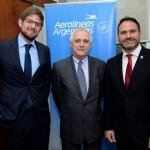 Gonzalo Romero, gerente geral da Aerolíneas Argentinas no Brasil, Marcos Bednarski, Consul da Argentina em SP, e Diego Valdecantos, secretario de Turismo de Jujuy