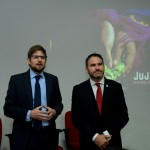 Gonzalo Romero, gerente geral da Aerolíneas Argentinas no Brasil, e Diego Valdecantos, secretario de Turismo de Jujuy