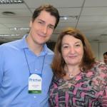 Gustavo Souza, da Localiza, e Magda Nassar, da Braztoa
