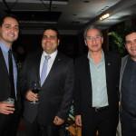 Hudson Andrade e Sávio Bromberg, do San Diego, Luiz Cláudio, cooperativo da Matriz Nobile, e Ricardo Bertino, da Nobile