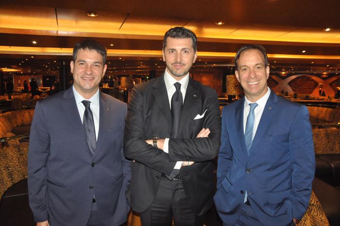 Ignacio Palacios, Achille Staiano e Adrian Ursilli, da MSC