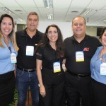 Julia Mantovani, da Highlight, Fabio Felix, Andréa Guedes e Julio Cezar, da AIT, com Gabrielly Mello, da Highlight