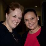 Karin Manheim Lima, da Emirates, e Natacha Servina, do Turismo de Seychelles