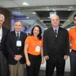 Luiz Henrique Garcia, José Carlos Sá e Nilo Sergio Feliz, do Turismo do RJ, com Rosana Azevedo e Thiago Brant, da Gol