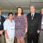 Magda Nassar, da Braztoa, entre José Carlos Sá, Cristina Fritsch, Nilo Sergio Feliz e Luiz Henrique Garcia, do Turismo do RJ