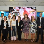 Magda Nassar, presidente da Braztoa, com a equipe da Argentina