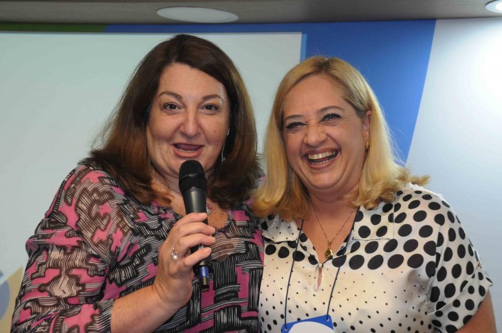 Magda Nassar, presidente da Braztoa, e Adriana Papa, da Amazonastur