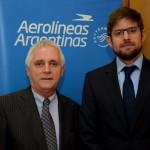 Marcos Bednarski, Consul da Argentina em SP, e Gonzalo Romero, gerente geral da Aerolíneas Argentinas no Brasil,