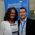 Mari Masgrau, do M&E, e Ivan Blanco, da Aerolíneas Argentinas