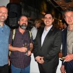 Mauricio Oliveira, da Trilhas e Aventuras, Declev Reynier, do Turista Profissional, com Carlo Carbone e Christian Tanzler, do visitBerlin