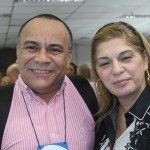 Maximo Farah, da Azul Viagens e  Krys Denesieski, da Delta Receptivo