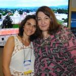 Natália Pisoni, da Inprotur Argentina, e Magda Nassar, da Braztoa